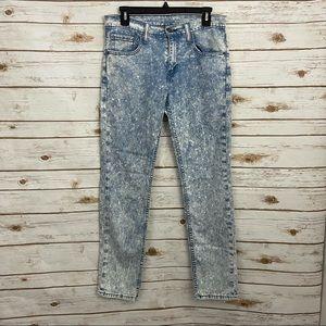 Levi's 512 Acid Wash Slim Fit Jeans